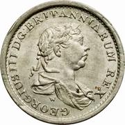 ¼ Guilder - George III – obverse