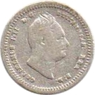 ⅛ Gulden - William IV – obverse