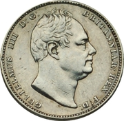 ½ Guilder - William IV – obverse