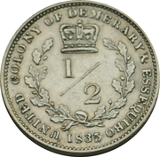 ½ Guilder - William IV – reverse