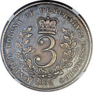 3 Gulden - William IV – reverse