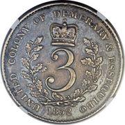 3 Gulden - William IV – reverse