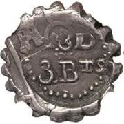 3 Bits - George III – obverse