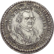 Medal - 200th anniversary of the Reformation (Esslingen) – reverse