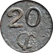 20 Centavos (Amecameca) – reverse