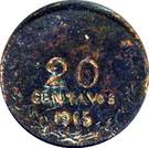 20 Centavos (Tenancingo) – reverse