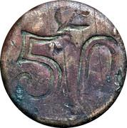 50 Centavos (Amecameca) – reverse