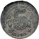 5 Centavos (Toluca) – reverse