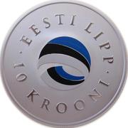 10 Krooni (National Flag) – reverse