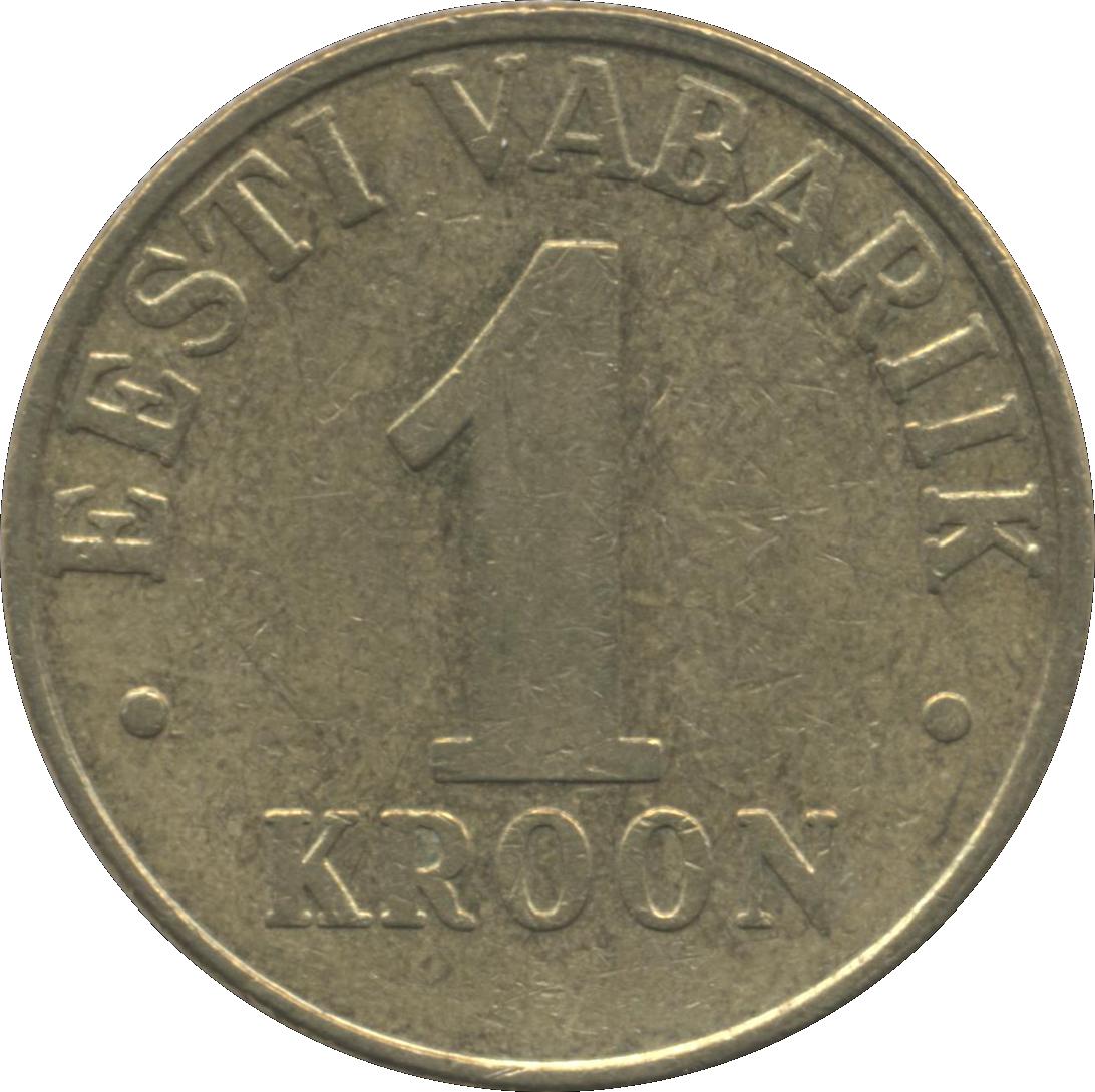 1 крон 1998 eesti vabariik биденхандер