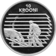 10 Krooni (Independence) – reverse