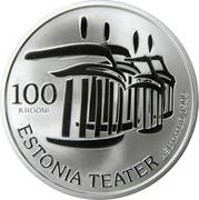 100 Krooni (Estonian National Theatre) – reverse