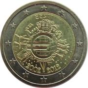 2 Euro (10 Years of Euro Cash) – obverse