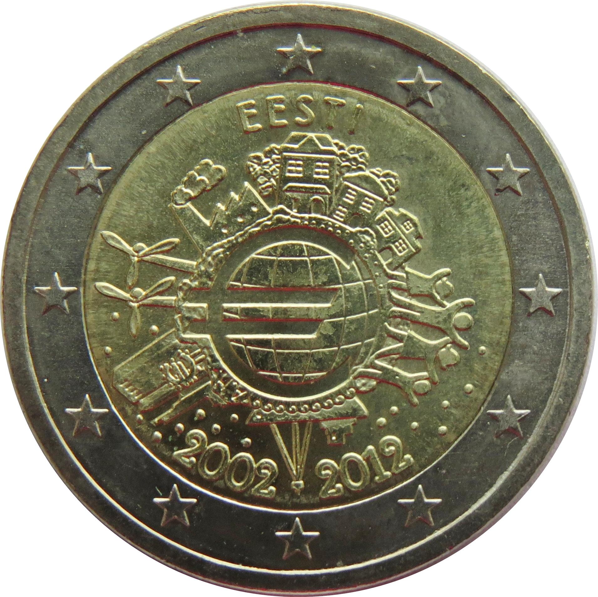 GERMANY 2 € common commemorative euro coin 2012 TYE Ten years of the Euro