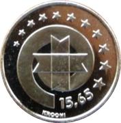 15.65 Krooni (Estonia's Euro Equivalent) – reverse