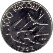 100 Krooni (Monetary Reform) – reverse