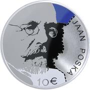 10 Euro (Jaan Poska) – reverse