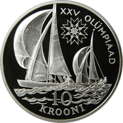 10 Krooni (Olympics 1992) – reverse