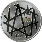 10 Krooni (2008 Summer Olympics in Beijing) – reverse