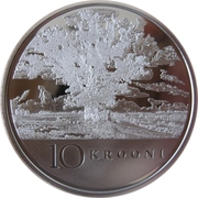 10 Krooni (Anniversary of Republic) – reverse