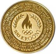 100 Krooni (Olympic Games) – reverse