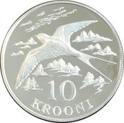 10 Krooni (Barn Swallow) – reverse