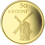 50 Krooni (Anniversary of Republic) – reverse