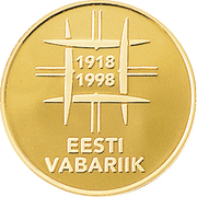500 Krooni (80th Anniversary of Nation) – obverse