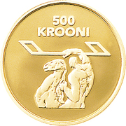 500 Krooni (80th Anniversary of Nation) – reverse