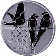 100 Krooni (90th Anniversary of Republic) – reverse