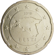 20 Euro Cent (2nd map) – obverse