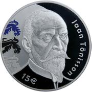 15 Euro (150th anniversary of the birth of Jaan Tõnisson) – reverse