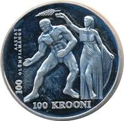 100 Krooni (Olympics) – reverse