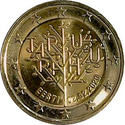2 Euro (Centenary of the Tartu Peace Treaty) -  obverse