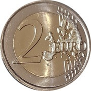 2 Euro (Wolf) – reverse