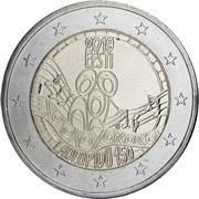 2 Euro (Festival of the Song of Estonia) -  obverse
