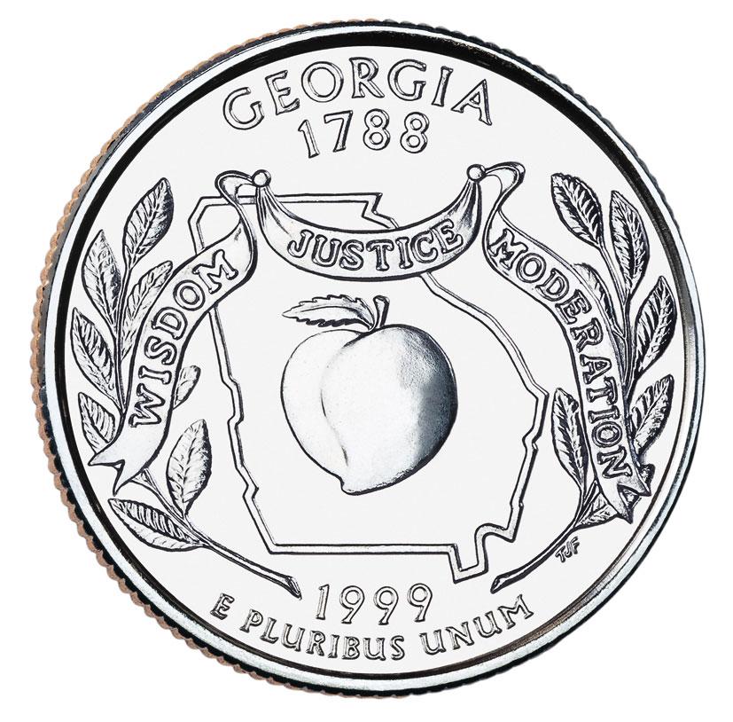 Quarter dollar 1999 wisdom justice moderation wtyf монеты россии серия красная книга