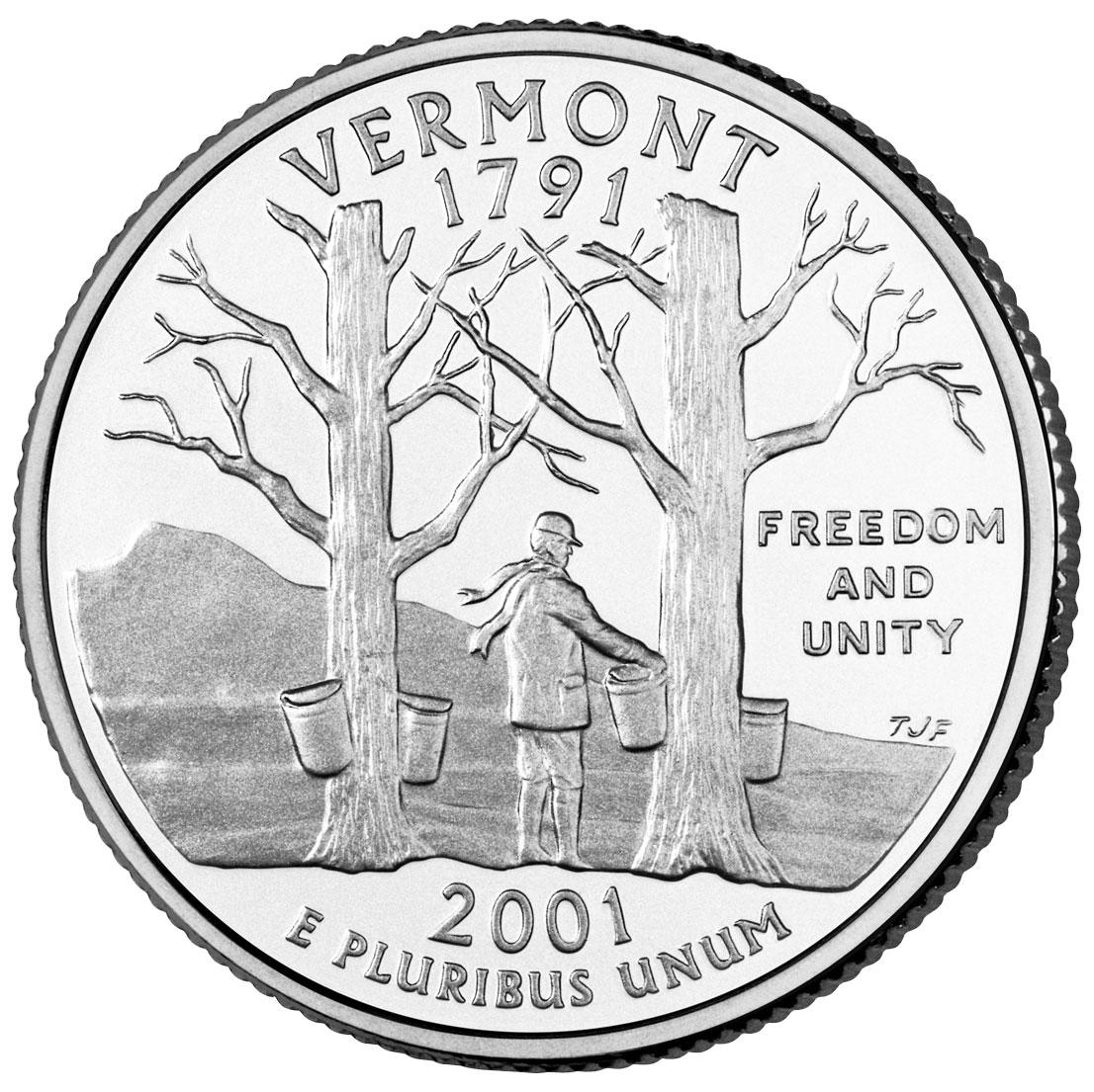 "¼ Dollar ""Washington Quarter"" (Vermont) - United States ... Quarter"