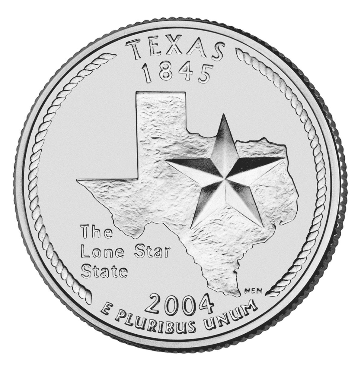 188 Dollar Quot Washington Quarter Quot Texas United States