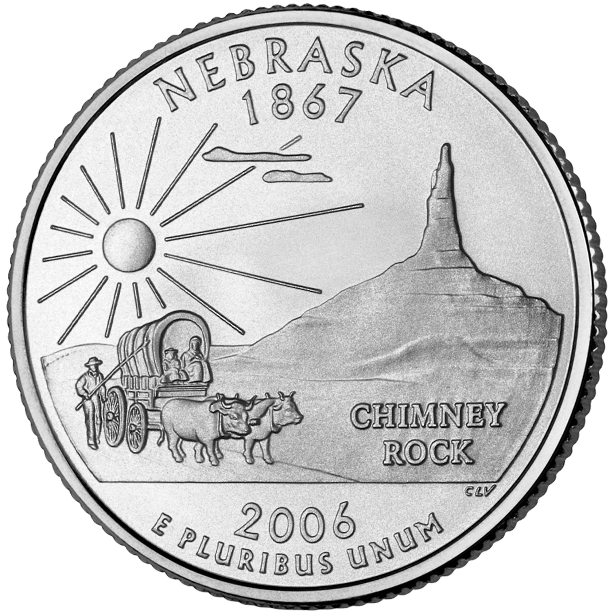 "¼ Dollar ""Washington Quarter"" Nebraska"