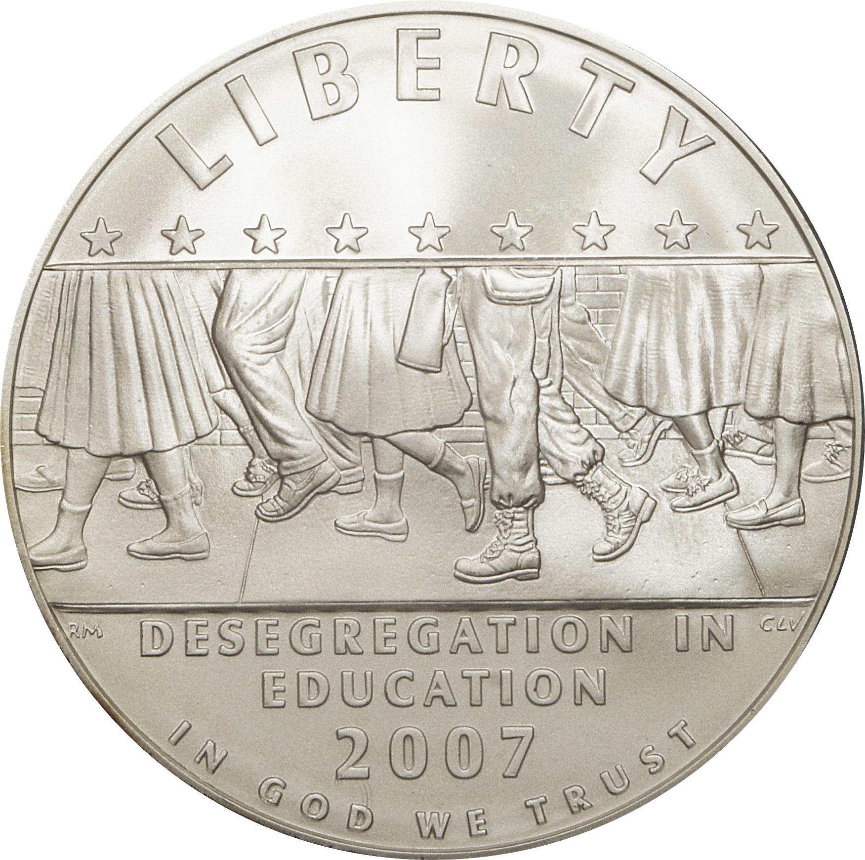 2007 BU Little Rock Central High School US Mint Commemorative Silver Dollar Coin