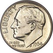 "1 Dime ""Roosevelt Silver Dime"" -  obverse"