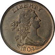 "½ Cent ""Draped Bust - Half Cent"" – obverse"