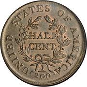 "½ Cent ""Draped Bust - Half Cent"" – reverse"