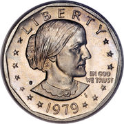 "1 Dollar ""Susan B. Anthony Dollar"" -  obverse"