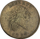 "1 Cent ""Flowing Hair Cent"" (Chain reverse) – obverse"