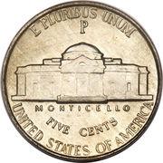 """5 Cents """"Jefferson Wartime Nickel"""" (1st portrait) -  reverse"""