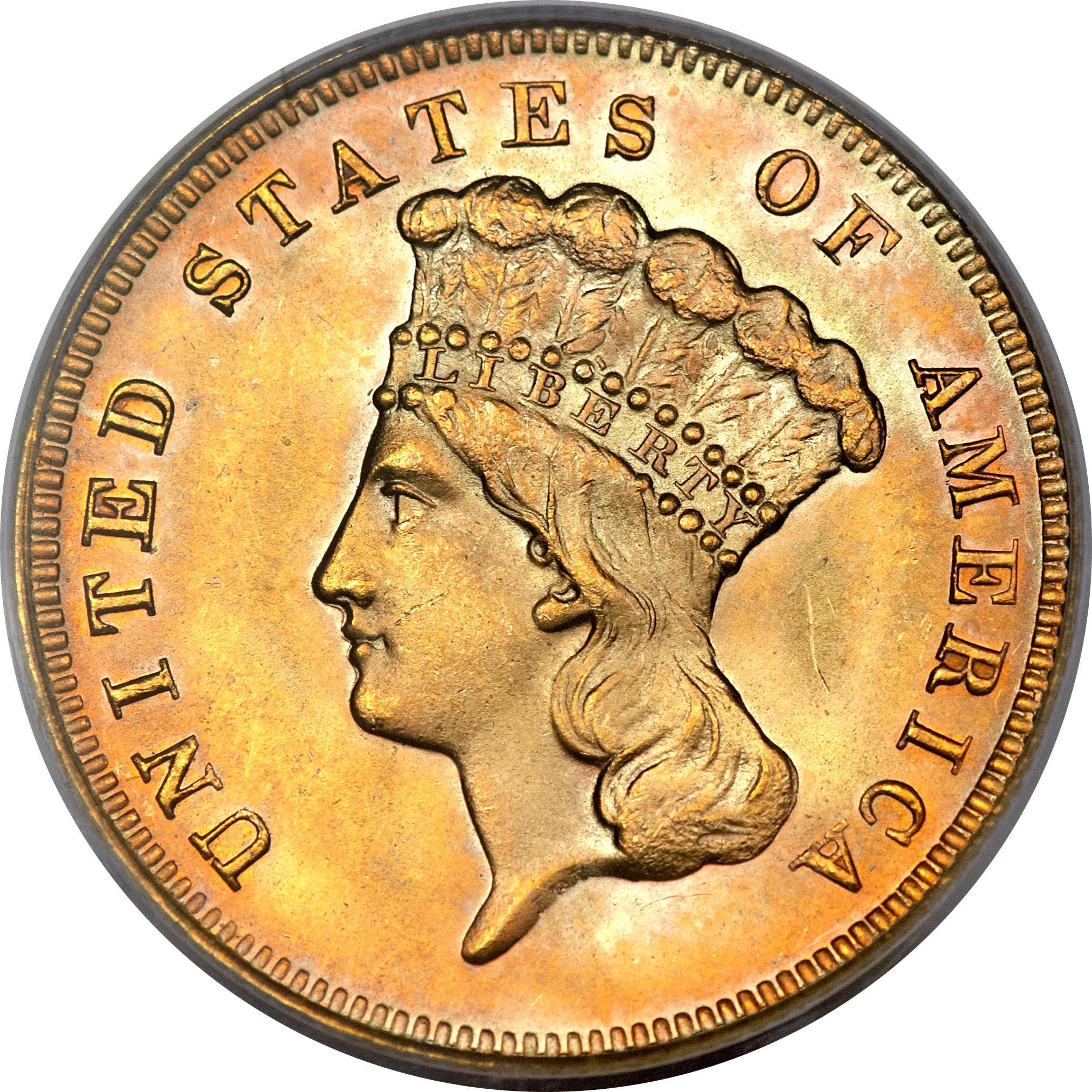3 Dollars Indian Head United States Numista