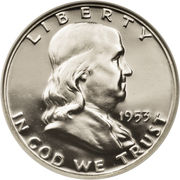 "½ Dollar ""Franklin Half Dollar"" -  obverse"