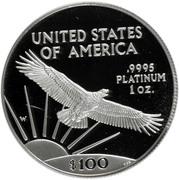 "100 Dollars ""American Platinum Eagle"" (Bullion Coinage) -  obverse"